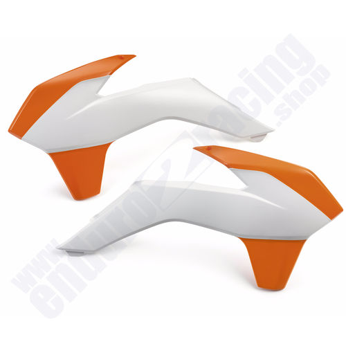 R-TECH Tankspoiler orange weiß KTM EXC 125 Bj. 2014-2016