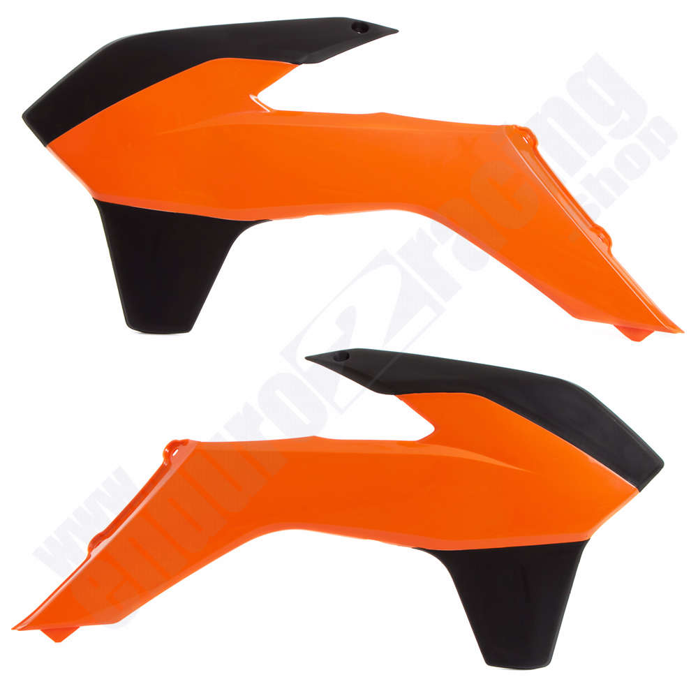 R TECH Tankspoiler Orange Schwarz KTM SX 85 Bj 2013 2017