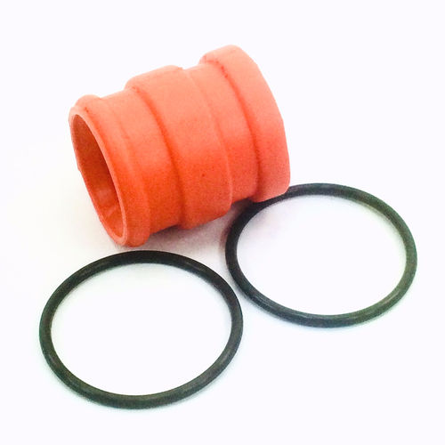 4MX Auspuffgummi orange + 2x Viton O-Ring 44x3 KTM EXC 300